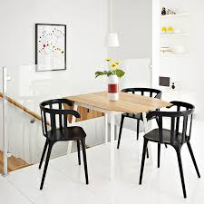 ikea ps 2012 drop leaf table in bamboo white seats 2 4 with ikea ps 2012 black chairs with armrests