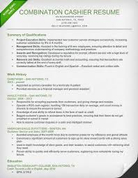 Cashier Resume Description Cashier Resume Sample Writing Guide Resume Genius 14