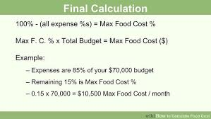 Shopping List Price Calculator How To Calculate Food Cost With Calculator Wikihow