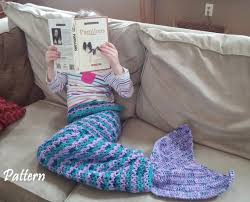 Mermaid Blanket Pattern Beauteous Mermaid Blanket PATTERN Crochet Mermaid Tail Mermaid Tail Etsy