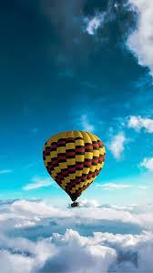 540x960 wallpaper hot air balloon sky