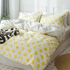 amwan fresh fruits lemon duvet cover set