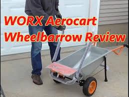 WORX Aerocart <b>8-in-1</b> Wheelbarrow Review - YouTube