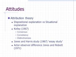 social psychology crime psychology social psychology attitudes   1967  consensus  consistency  distinctiveness jones and harris study 1967 essay study actor observer difference jones and nisbett 1971