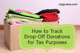 How To Track Drop Off Donations For Tax Purposes
