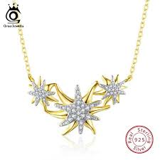 <b>ORSA JEWELS 925</b> Sterling <b>Silver</b> Women Necklaces And ...