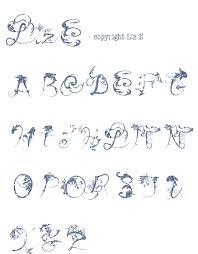 花装飾文字風オリジナル刺繍図案クロスステッチ配布 りずイズム