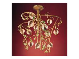 melograno chandelier classic chandelier in golden metal and le glass