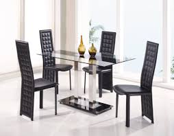 Elegant Kitchen Table Sets Dining Room Art Deco Dining Table With Rectangle Glass Top And