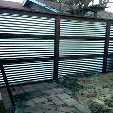 corrugated metal fence corrugated metal privacy fence