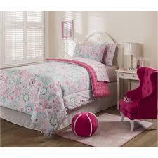 mainstays kids sherbet pink bed in a bag bedding set