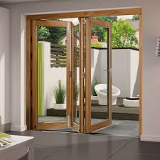folding french patio doors. Aluminium Clad Oak Folding Kitchen Door French Patio Doors