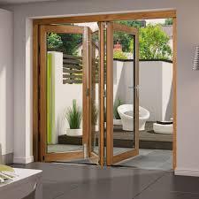 aluminium clad oak folding kitchen door