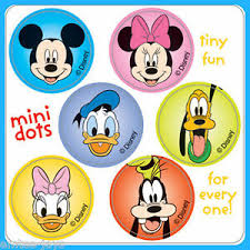Details About Mickey Mouse Stickers 48 Dots 8 Sheets Birthday Party Reward Charts Loot