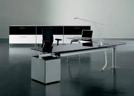 executive modern glass office desk
