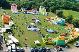an aerial view of one of the previous inflatable play parks