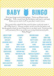 Free Printable Baby Shower Bingo · The Typical MomBaby Shower Bingo Cards Printable