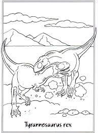 Twee Vechtende Dinosaurussen Kleurplaat
