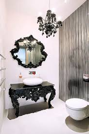 medium size of beautifully crafted black table with elaborate design reacts as vanity in the beautiful