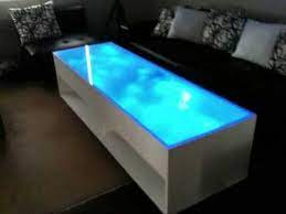 blue led coffee table you