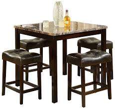 dining room tall dining room tables best of crown mark kinsey piece counter great ideas design