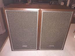 hitachi speakers. vintage hitachi bookshelf speakers 1970s brown wood