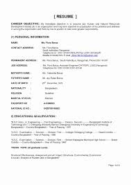 Ojt Sample Resume Awesome Career Objective For Ojt Tourism Student