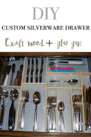 diy a silverware drawer with craft wood and hot glue best kitchen organizing ever