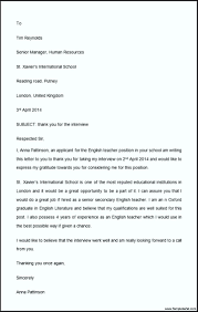 Thank You Letter after Phone Interview Teaching