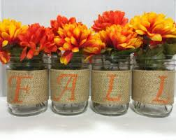 Fall Table Decorations With Mason Jars Rustic Fall Decor Etsy 8