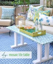 mosaic tile table