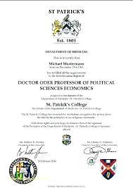 Fake Diploma Template Free University Certificate Template Ericremboldt Com