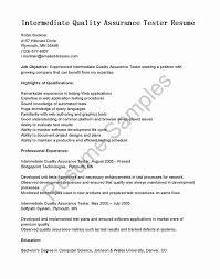 Qtp Sample Resume For Software Testers Elegant Qtp Test Engineer