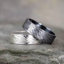 Bark Design Wedding Ring 6mm Hammered Bark Texture Wedding Band Sterling Silver