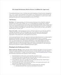 Annual Performance Review Employee Self Evaluation Examples Manager ...