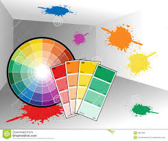 painter room with color wheel