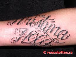 Rouče Tattoo černo šedivá Tetování černo šedivá Tetování