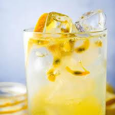 pion fruit vodka soda garlic zest
