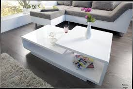 Table Basse Alinea Laque Blanc Mobilier Design D Coration D Table Basse Lumineuse Louna