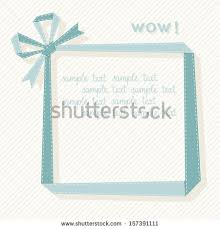 Decorative Text Boxes Vector Frame Made Blue Paper Ribbon Stock Vector 100 97