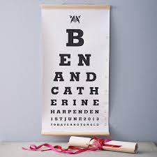 personalised couple eye test chart