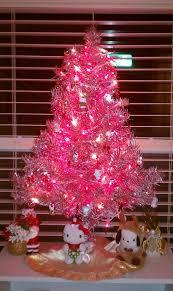 My mini pink Hello Kitty Christmas tree - yay Target mini ornaments