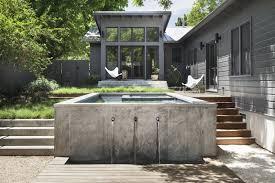 Concrete By Design Austin Garner Pool Casita Modern Home In Austin Texas By