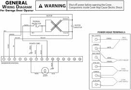 general wiring diagram for garage door openers