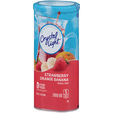 Crystal Light Drink Mix Strawberry Orange Banana Details About Crystal Light Strawberry Orange Banana Drink Mix 6 Ct Canister 18 Packs
