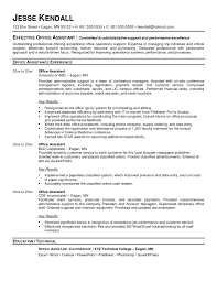 Office Assistant Objective Attractive Office Assistant Resume Example Administrative