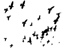 birds flying away silhouette. Fine Silhouette Vector  Birds Silhouettes Flying Away Peace To The World Throughout Silhouette G