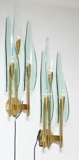 fontana arte lighting. max ingrand rare pair of three light dahlia sconces by for fontana arte - lighting n