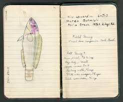 page 49 of donald erdman s account book with drawing of wre and recipe