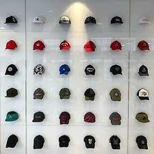 baseball cap display wall mounted hat